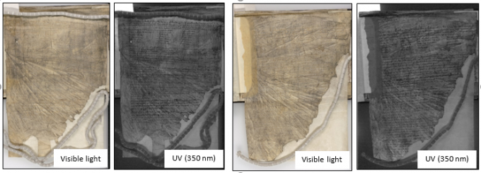 Visualization of writing and inks using book2net multispectral system