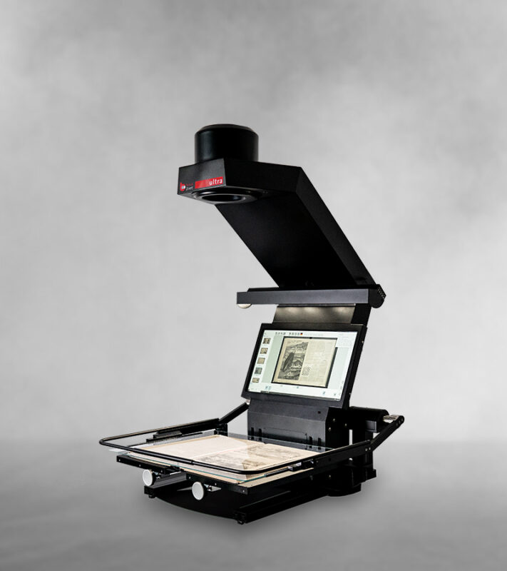 book2net Ultra A2 book scanner - new generation with embedded display